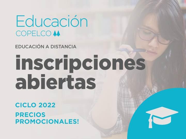 Inscripciones abiertas Educación a distancia Ciclo 2022